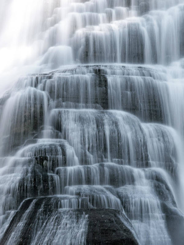 Ithaca Poster featuring the photograph Ithaca Water Falls New York Panoramic Photography by Paul Ge