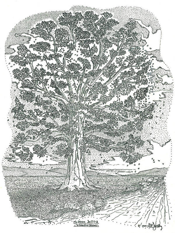 Landscape Poster featuring the drawing A Change Of Seasons by Glenn McCarthy Art and Photography
