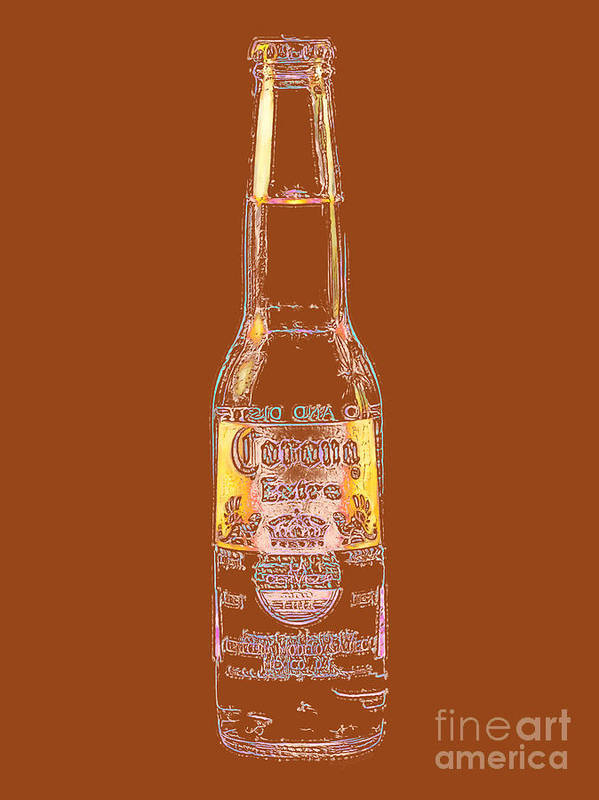 Beer Poster featuring the photograph Corona Beer 20130405v2 by Wingsdomain Art and Photography