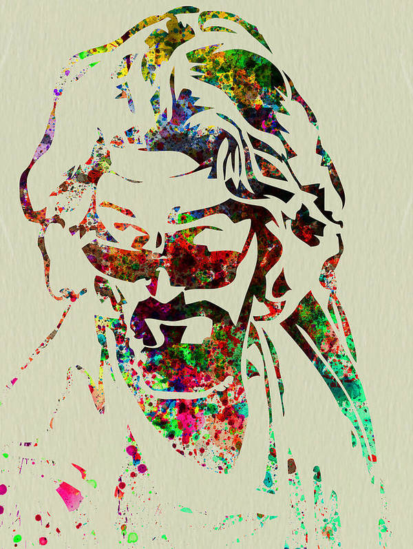 Big Lebowski Poster featuring the painting Dude by Naxart Studio