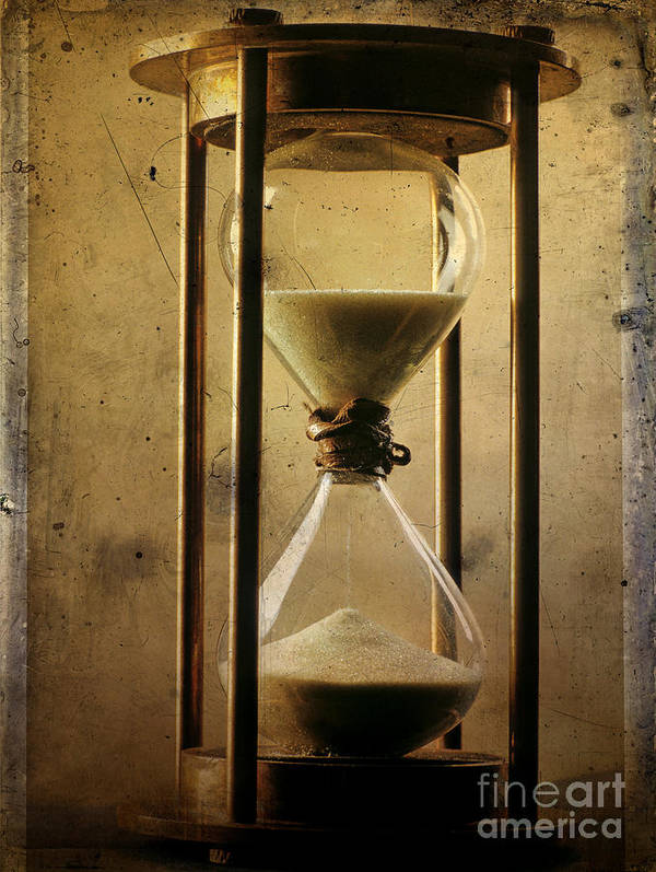 Clock Poster featuring the photograph Hourglass by Bernard Jaubert