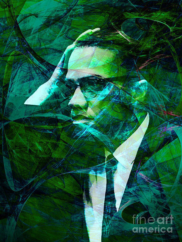 Celebrity Poster featuring the photograph Malcolm X 20140105p138 by Wingsdomain Art and Photography