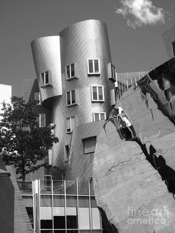Beaver Poster featuring the photograph Massachusetts Institute Of Technology Stata Center by University Icons