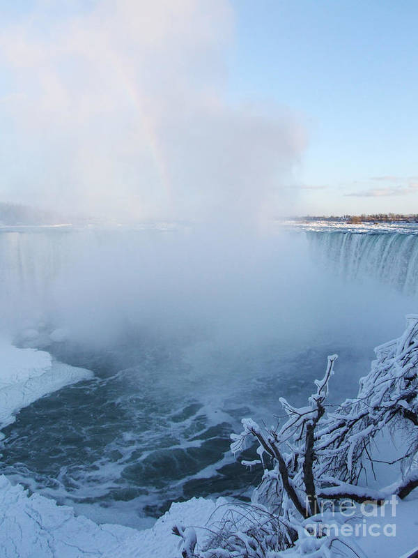Canada Poster featuring the photograph Niagara Falls - Minus 20 C by Phil Banks