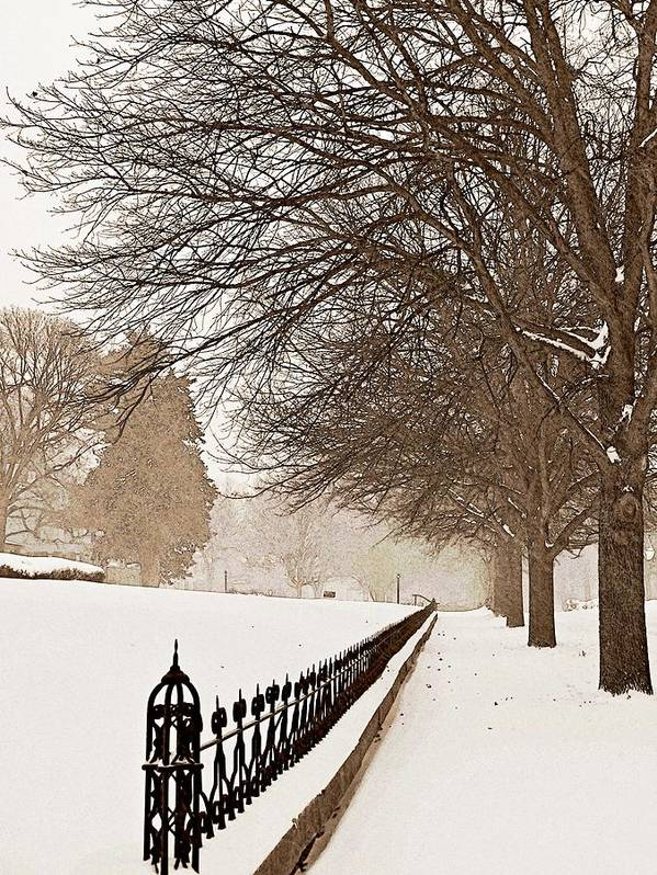 Winter Poster featuring the photograph Old Fashioned Winter by Chris Berry
