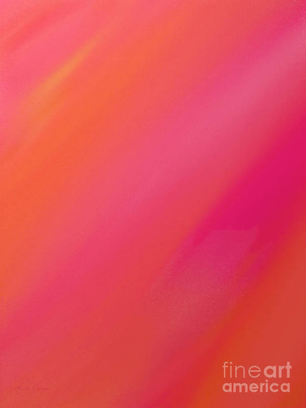 Andee Design Abstract Poster featuring the digital art Orange And Raspberry Sorbet Abstract 1 by Andee Design