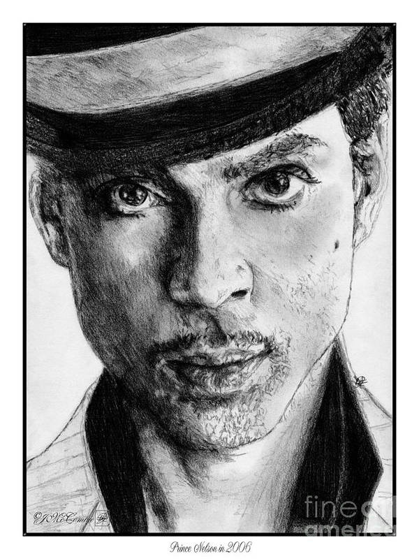 Prince Poster featuring the drawing Prince Nelson In 2006 by J McCombie