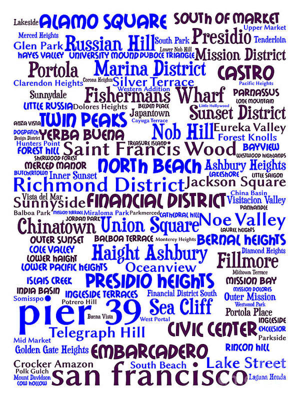 Bayarea Poster featuring the digital art San Francisco 20130710whi by Wingsdomain Art and Photography