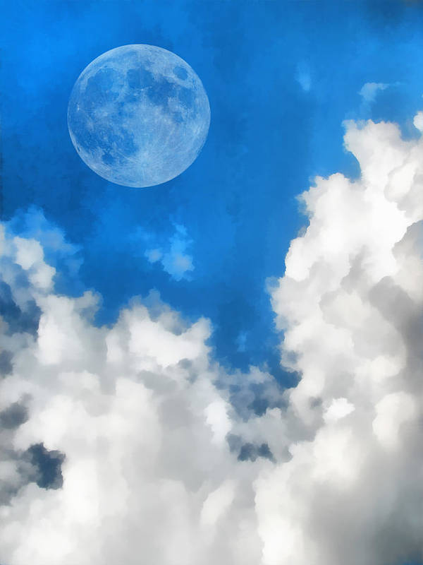 Moon Poster featuring the digital art Speak To The Sky by Wendy J St Christopher