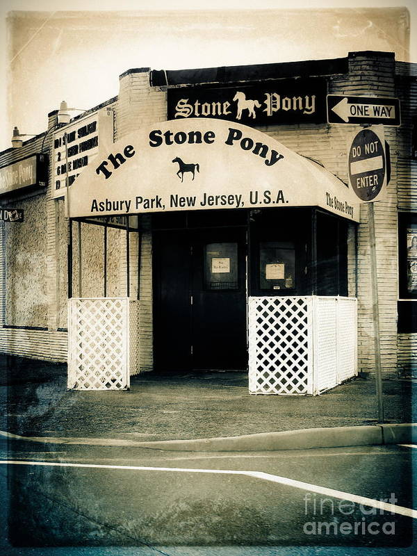The Stone Pony Poster featuring the photograph Stone Pony by Colleen Kammerer