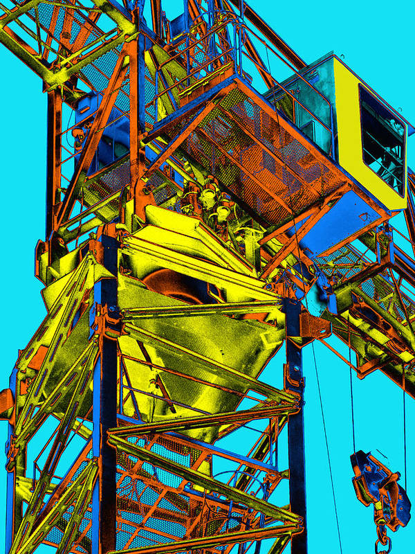 Tower Crane Poster featuring the photograph Towering 5 by Wendy J St Christopher