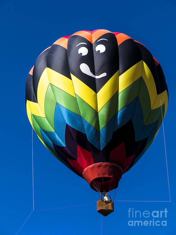 Balloon Poster featuring the photograph Up Up And Away In My Beautiful Balloon by Edward Fielding