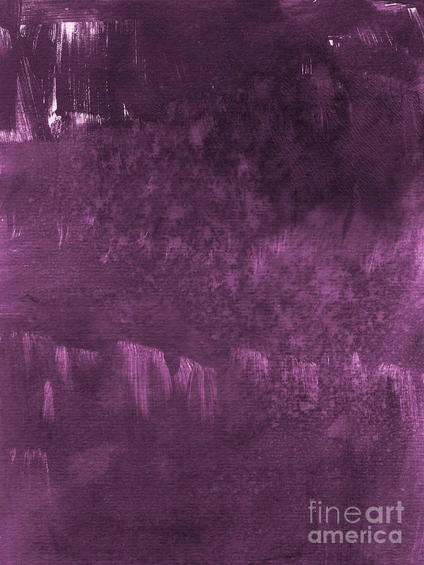 Purple Abstract Painting Poster featuring the painting We Are Royal by Linda Woods