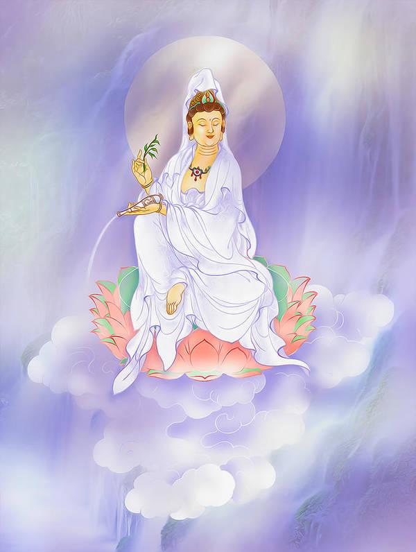 Avalokitesvara Poster featuring the photograph Willow Kuan Yin by Lanjee Chee