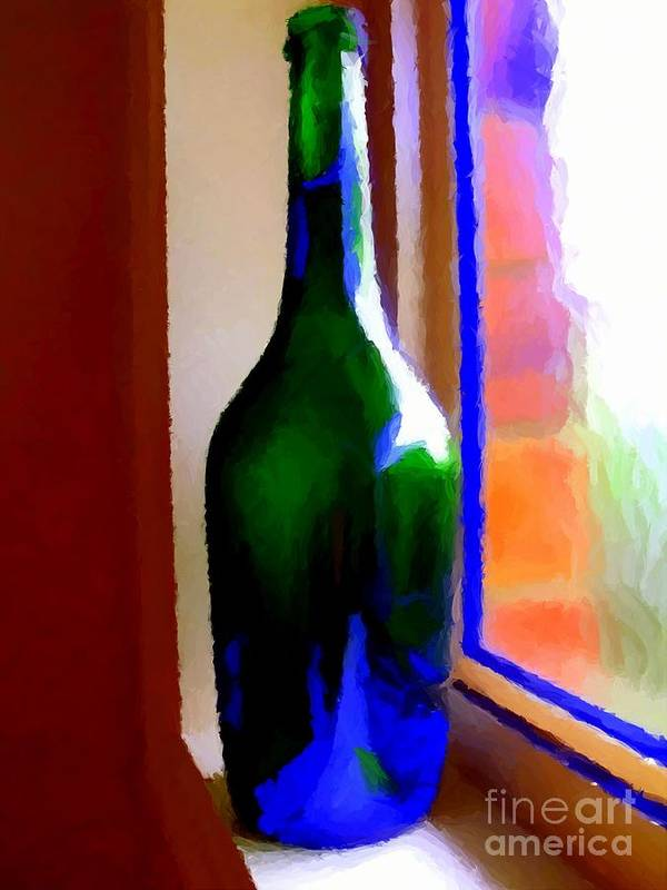 Bottle Poster featuring the digital art Wine Bottle by Chris Butler