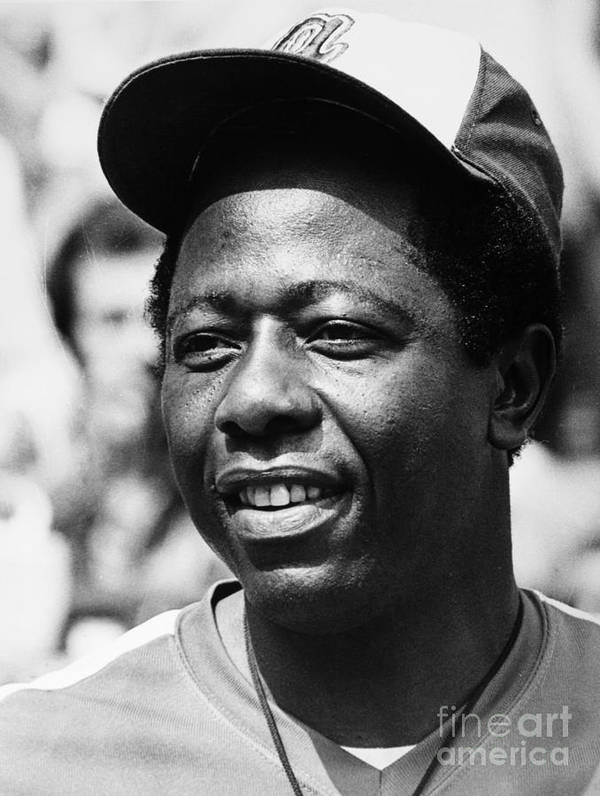 1974 Poster featuring the photograph Hank Aaron (1934- ) by Granger