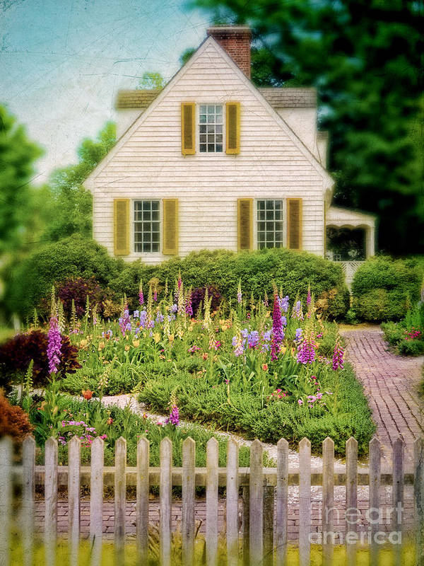 Cottage Poster featuring the photograph Cottage And Garden by Jill Battaglia