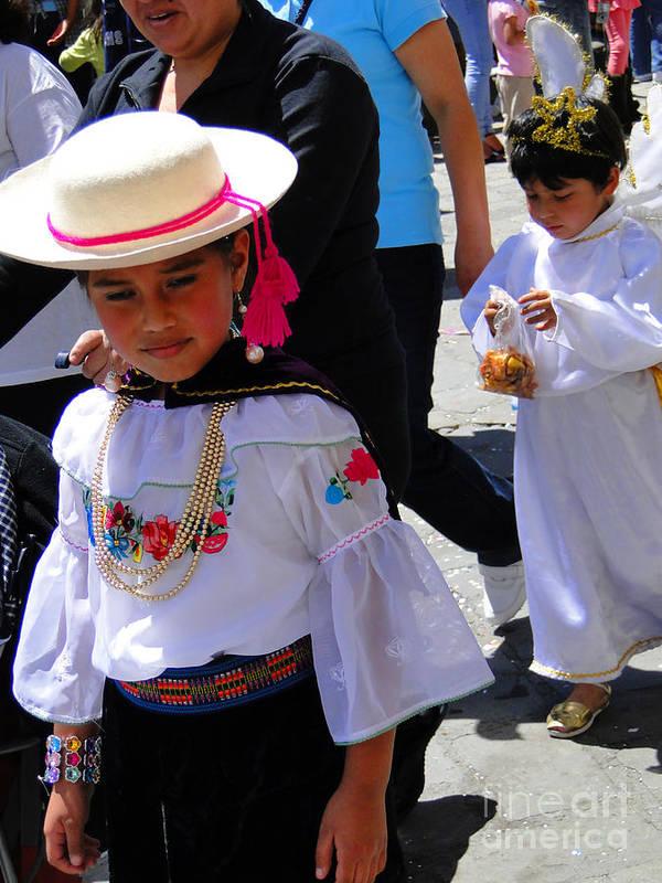 Al Bourassa Poster featuring the photograph Cuenca Kids 117 by Al Bourassa