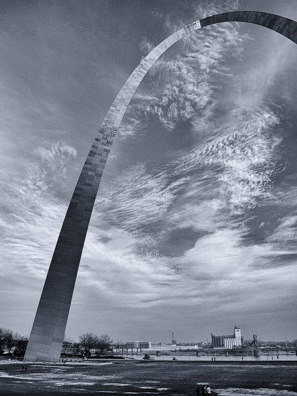 Arch Poster featuring the photograph Curved Arch by Joshua House
