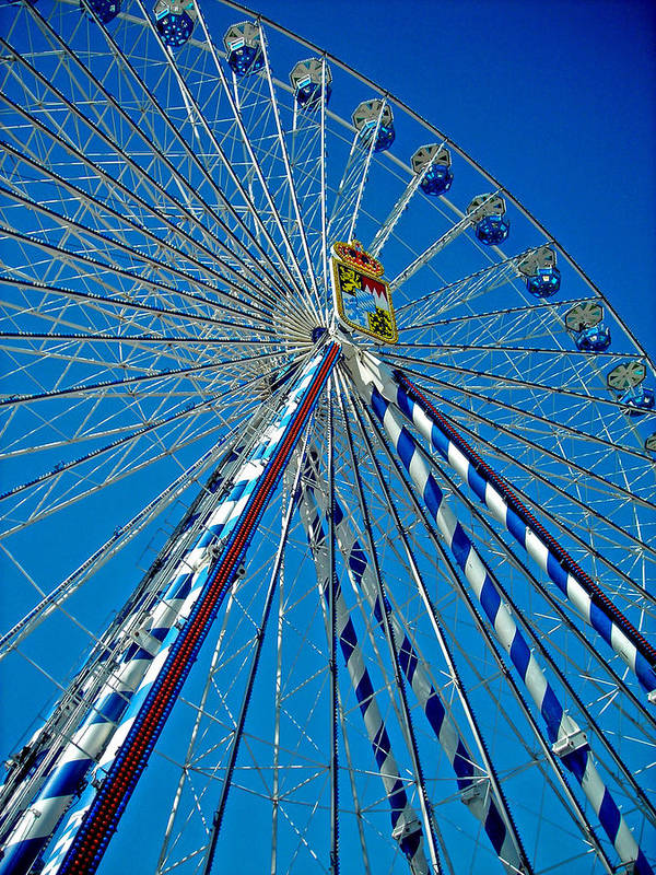 Europe Poster featuring the photograph Ferris Wheel - Nuremberg by Juergen Weiss