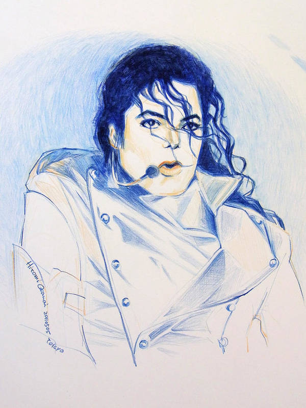 Michael Jackson Poster featuring the painting History by Hitomi Osanai