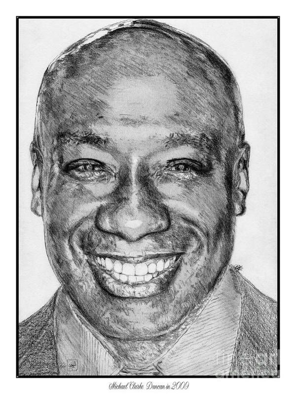 Michael Clarke Duncan Poster featuring the drawing Michael Clarke Duncan In 2009 by J McCombie