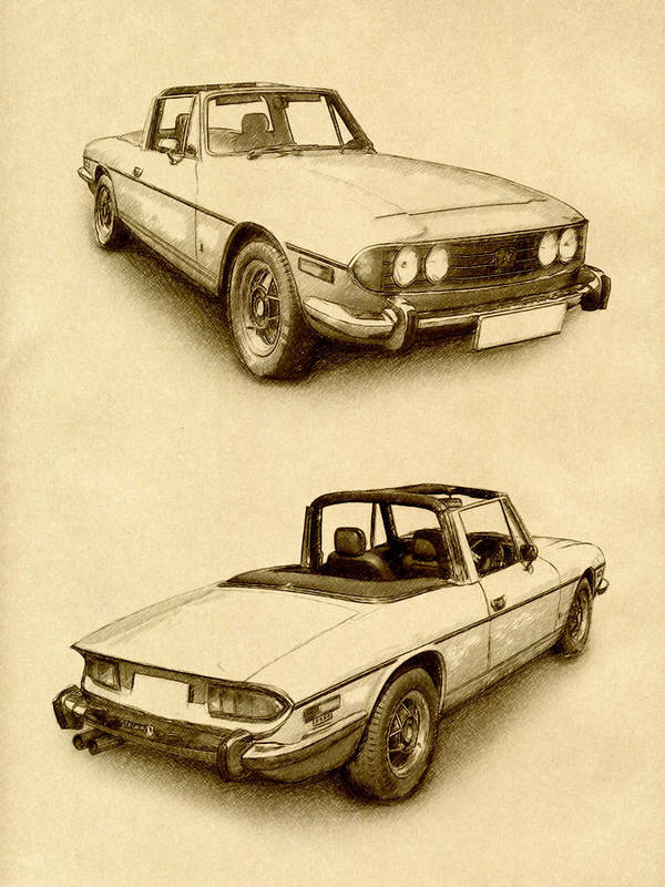 Triumph Stag Poster featuring the digital art Triumph Stag by Michael Tompsett