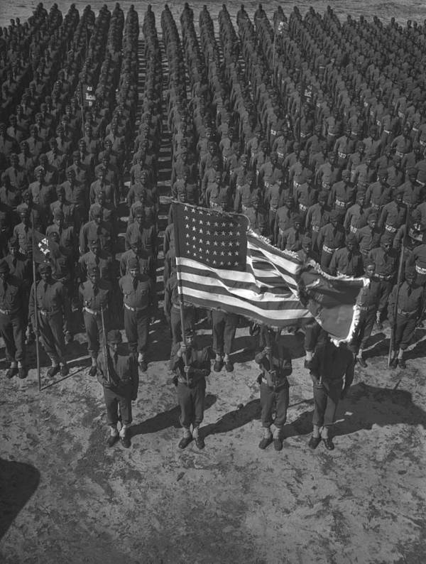 History Poster featuring the photograph U.s. Army 41st Engineers On Parade by Everett
