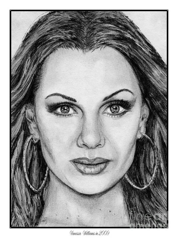 Vanessa Williams Poster featuring the drawing Vanessa Williams In 2009 by J McCombie