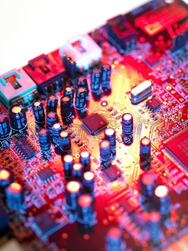 Circuit Board Poster featuring the photograph Circuit Board by Tek Image