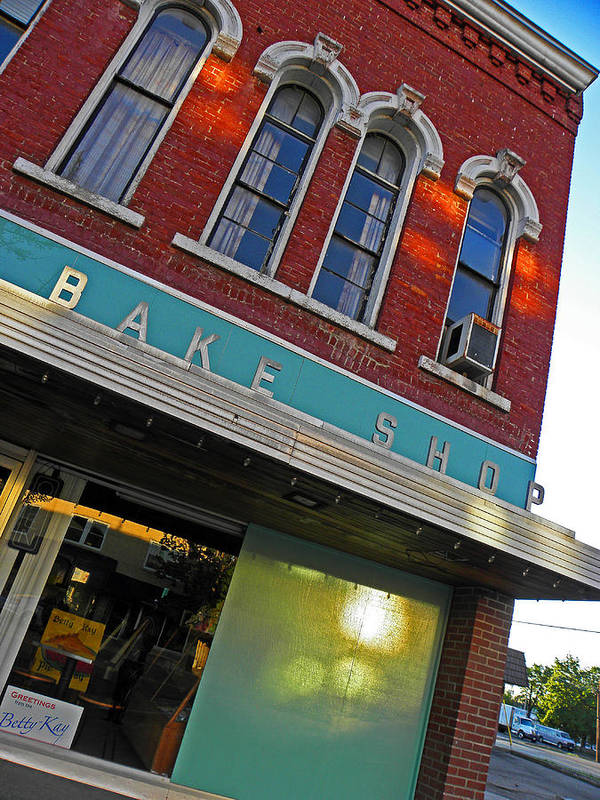 Architecture Poster featuring the photograph Bake Shop by Elizabeth Hoskinson