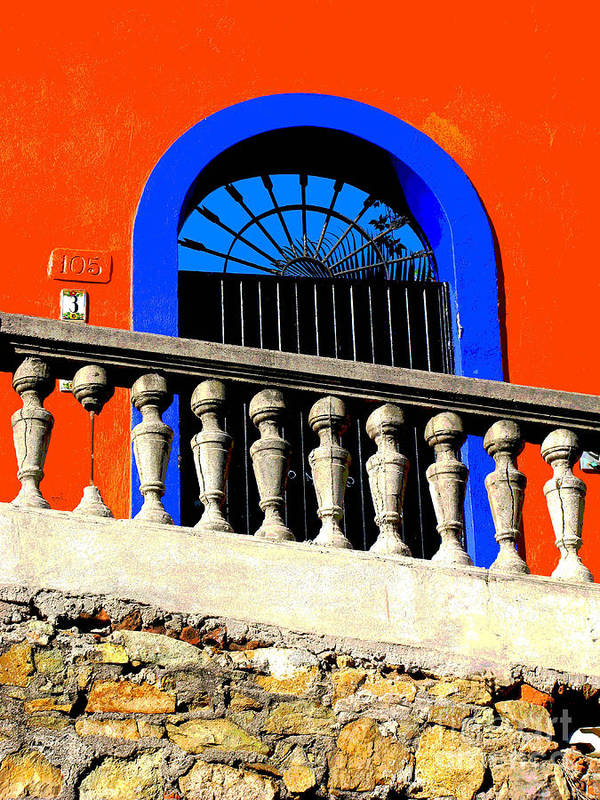 Michael Fitzpatrick Poster featuring the photograph Blue Arch 1 By Michael Fitzpatrick by Mexicolors Art Photography