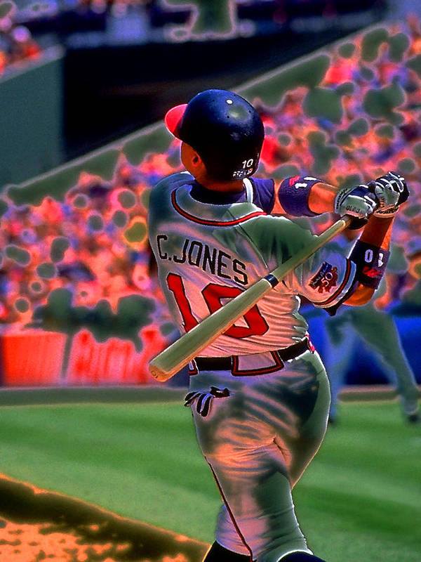 Baseball Poster featuring the photograph Chipper Jones by Rod Kaye