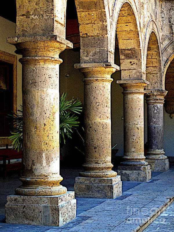 Mexico Poster featuring the photograph Colonnades by Mexicolors Art Photography