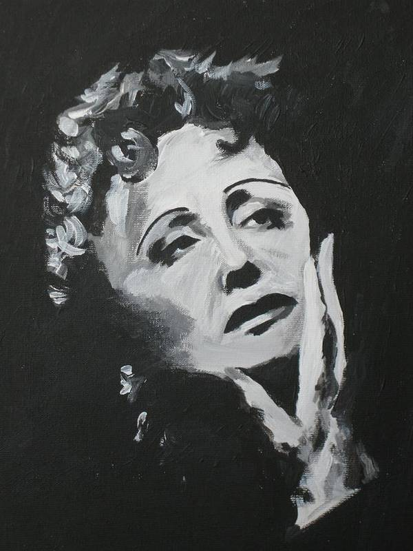 Edith Poster featuring the painting Edith by Zhanna Diachenko