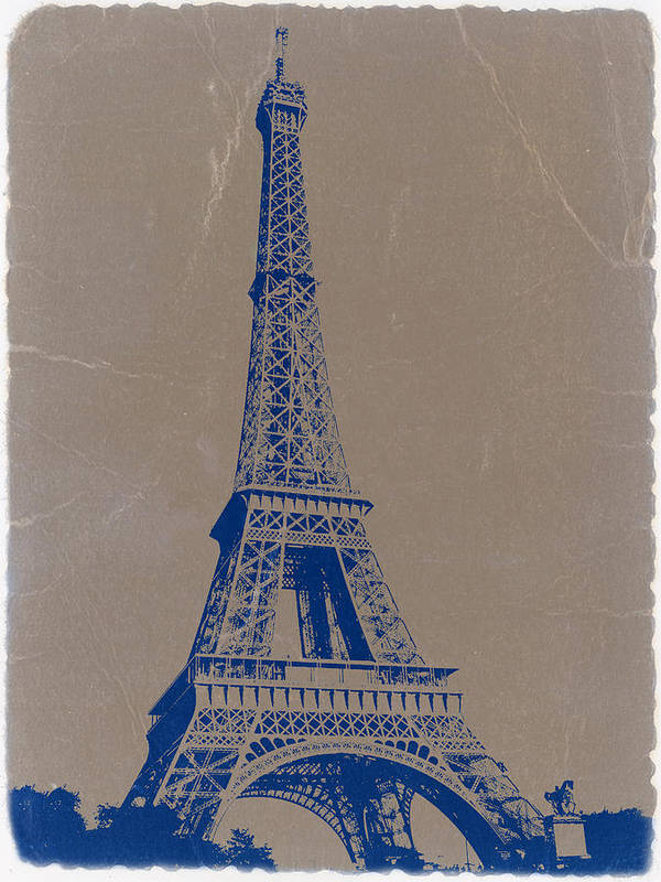 Eiffel Tower Poster featuring the photograph Eiffel Tower Blue by Naxart Studio