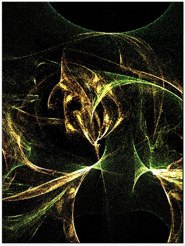 Fractal_flame Poster featuring the digital art Her Resentments Eternal Self Damnation by Rebecca Phillips