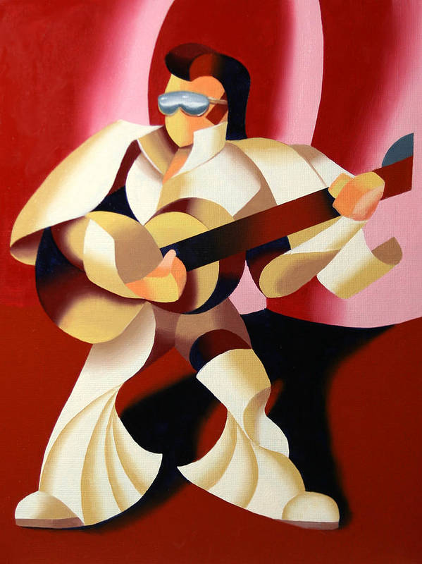 Elvis Poster featuring the painting Mark Webster - It's Good To Be The King by Mark Webster