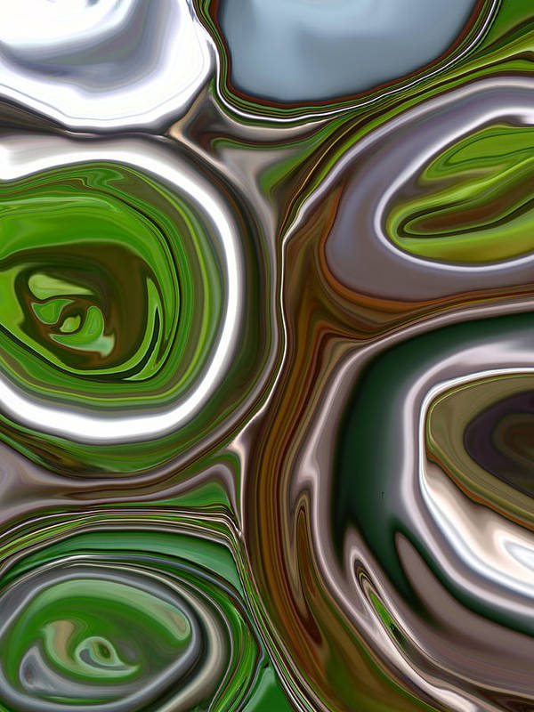 Abstract Poster featuring the photograph Metal Abstract by Linnea Tober