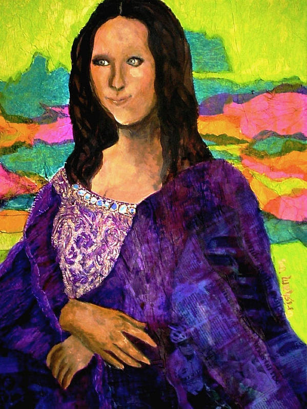 Fine Art Poster featuring the painting Montage Mona Lisa by Laura Grisham