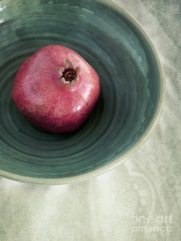 Punica Granatum Poster featuring the photograph Pomegranate by Priska Wettstein