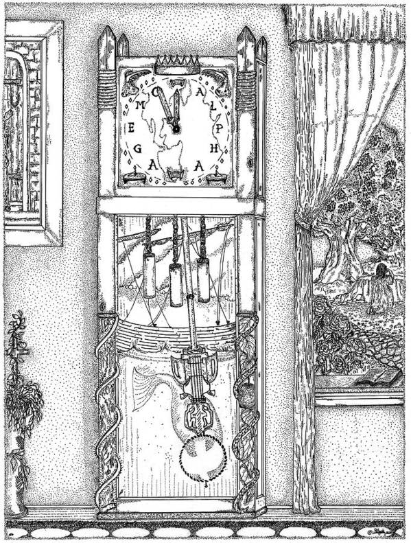 Clocks Poster featuring the drawing Reflection Of Time by Glenn McCarthy Art and Photography