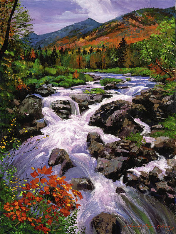 Rivers Poster featuring the painting River Sounds by David Lloyd Glover