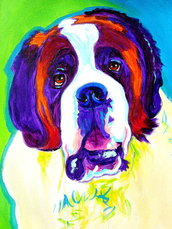 Dog Poster featuring the painting Saint Bernard - by Alicia VanNoy Call