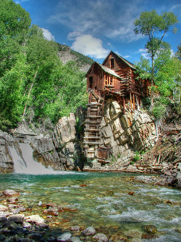 Crystal Mill Poster featuring the photograph The Crystal Mill In Crystal Colorado by Ken Smith