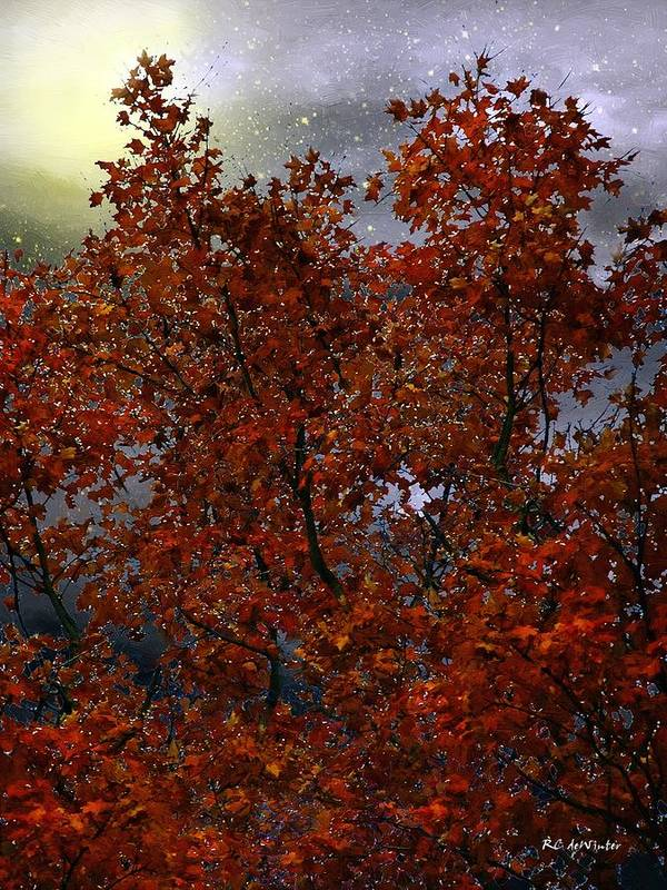 Trees Poster featuring the painting The Passion Of Autumn by RC DeWinter
