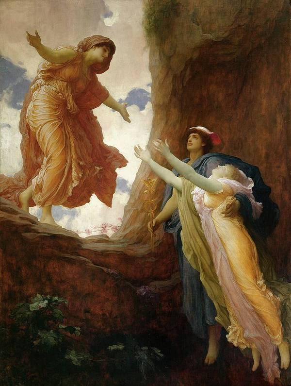 The Return Of Persephone Poster featuring the painting The Return Of Persephone by Frederic Leighton