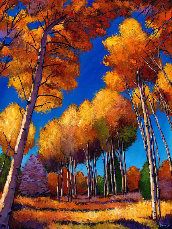 Autumn Aspen Poster featuring the painting Up And Away by Johnathan Harris