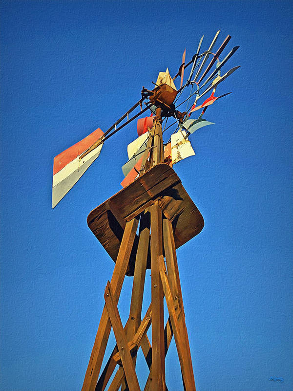 Windmill Tower Poster featuring the photograph Which Way The Wind Blows by Glenn McCarthy Art and Photography