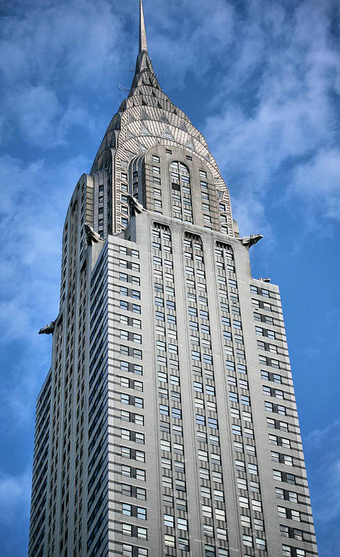 Chrysler Building Poster featuring the photograph Blue Skies by JC Findley